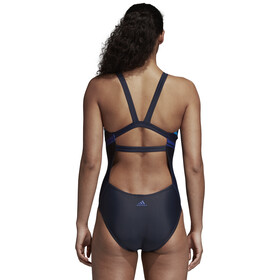 adidas Placed Print Swimsuit Women Black/Mystery Ink
